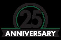 Costello Construction 25th Anniverary Logo
